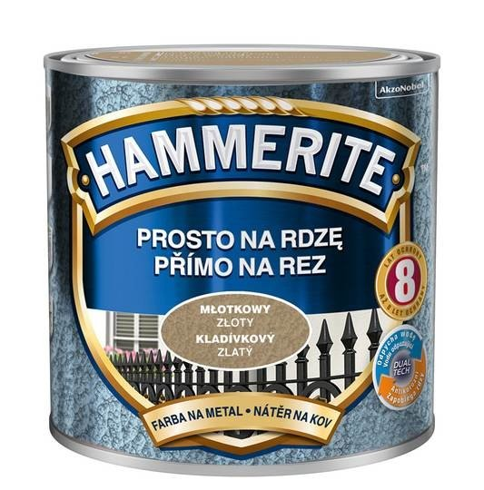 Hammerite Na Rdzę 0,25L ZŁOTY MŁOTKOWY hamerite farba
