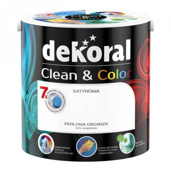 Dekoral CLEAN COLOR 2,5L Perłowa Organza satynowa farba lateksowa