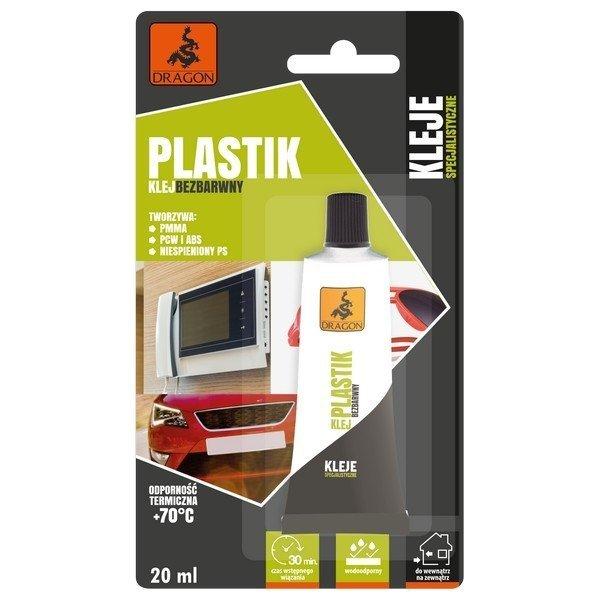 Klej Plastiku Pleksi PCW ABS BEZBARWNY Naprawczy PMMA 20ml Dragon