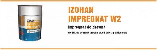 Izohan W2 5L Impregnat drewna gontów do Imprex BEZBARWNY