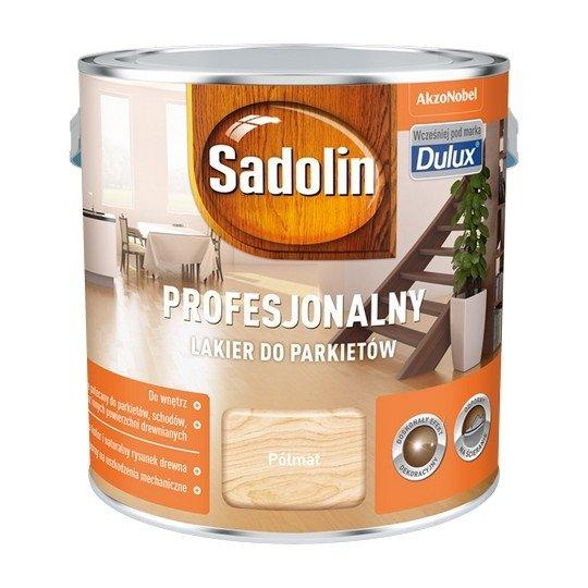 Sadolin Lakier Profesjonalny PÓŁMAT 2,5L parkietu dulux podłóg drewna