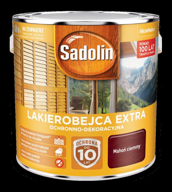 Sadolin Extra lakierobejca 2,5L MAHOŃ CIEMNY 30 drewna