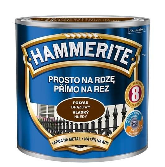 Hammerite Na Rdzę 0,25L BRĄZOWY POŁYSK hamerite farba