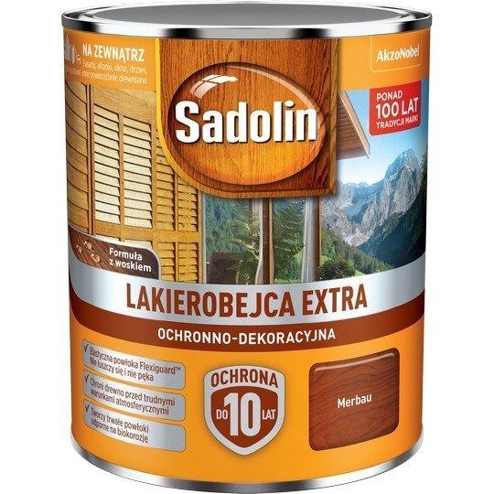 Sadolin Extra lakierobejca 0,75L MERBAU 40 drewna