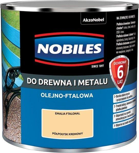 Nobiles olejna 0,25L KREMOWY farba Ftalonal emalia