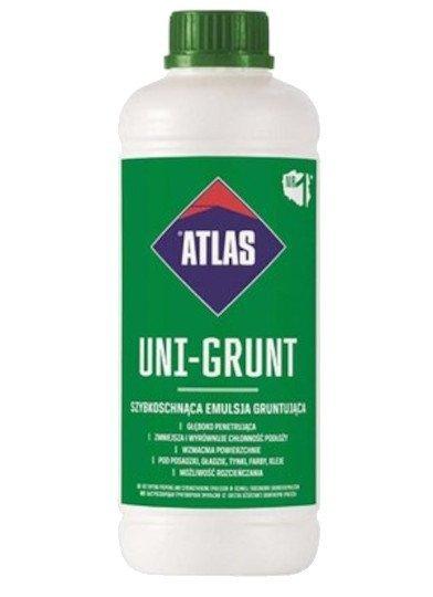 Atlas Uni-Grunt-ująca 1kg 1L emulsja mleczko do gruntowania