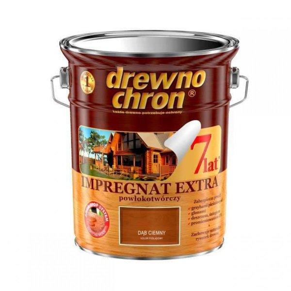 Drewnochron DĄB CIEMNY 4,5L Impregnat Extra drewna do