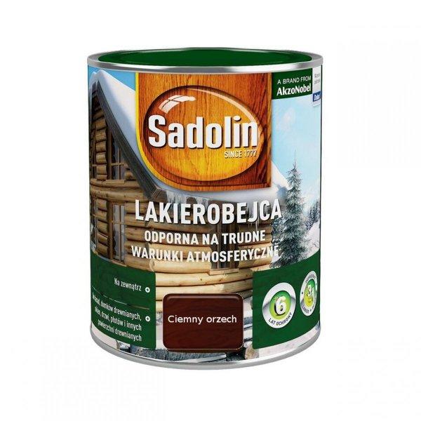 Sadolin Odporna lakierobejca 0,75L ORZECH CIEMNY drewna
