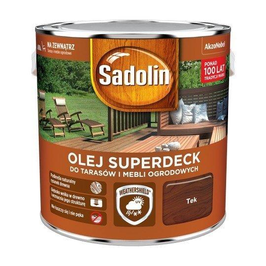 Sadolin Superdeck olej 2,5L TEK TIK 33 tarasów drewna do