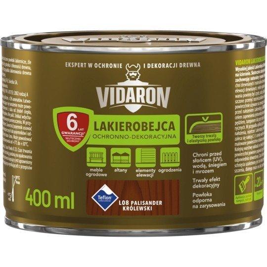 Vidaron Lakierobejca 0,4L L08 Palisander Królewski do drewna