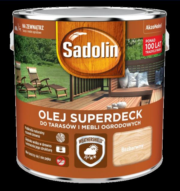 Sadolin Superdeck olej 2,5L BEZBARWNY 1 tarasów drewna do