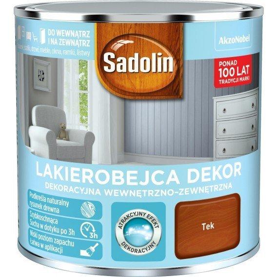 Sadolin Dekor Lakierobejca 1L TEK TEAK TIK drewna
