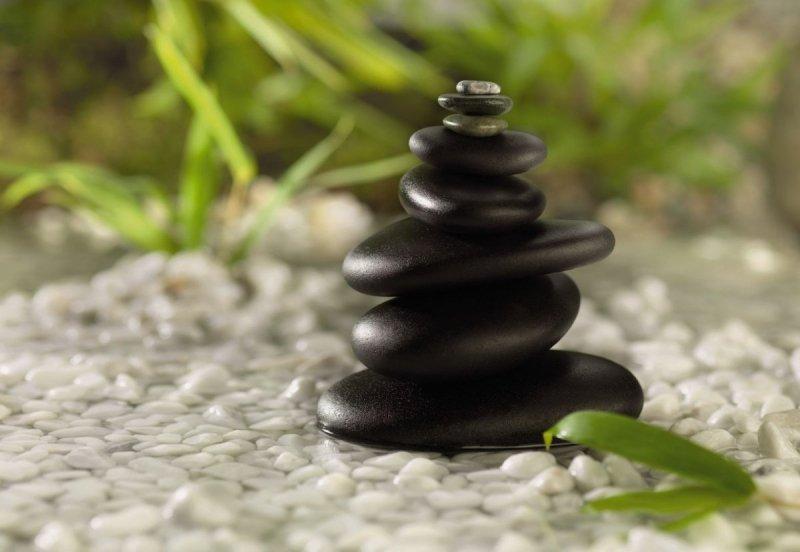 Fototapeta 184x127 1-612 Feng Shui Kamienie Woda Natura Przyroda
