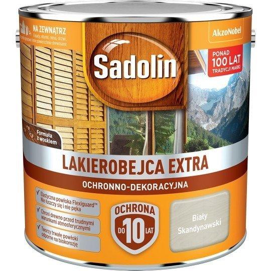 Sadolin Extra lakierobejca 2,5L BIAŁY SKANDYNAWSKI drewna