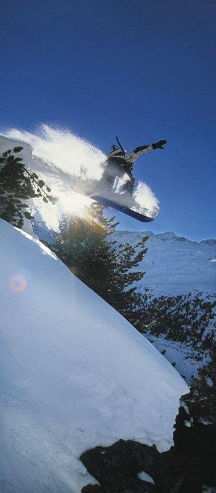 Fototapeta 92x220 2-092 Snowboard Zima Skoki Góry Sport ekstremalny