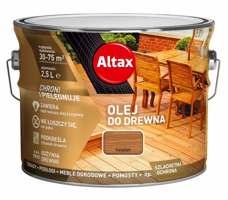 Altax olej do drewna 2,5L KASZTAN tarasów