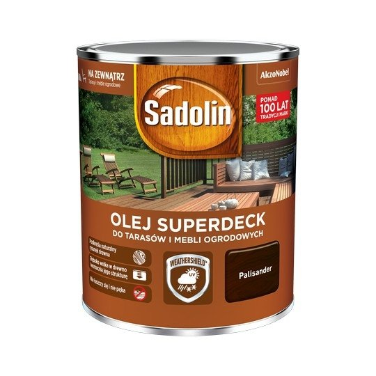 Sadolin Superdeck olej 0,75L PALISANDER 95 tarasów drewna do