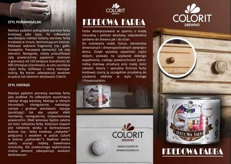 Colorit Kredowa Drewna 375ml TURKUS mebli farba do