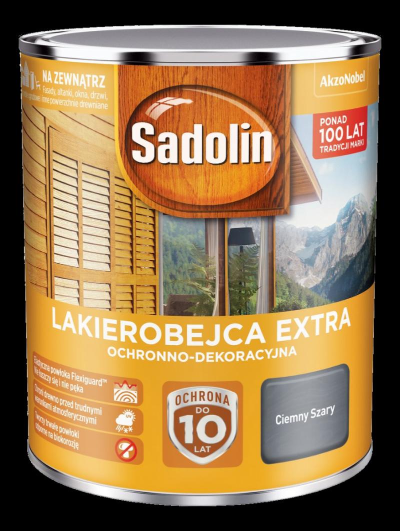 Sadolin Extra lakierobejca 0,75L SZARY CIEMNY drewna