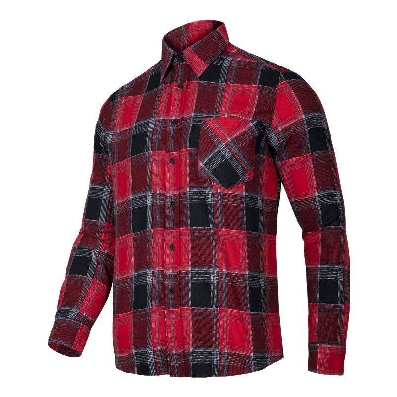 LAHTI PRO Koszula robocza flanelowa S krata 120g czerwona