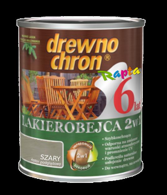 Drewnochron 2w1 Lakierobejca SZARY 2,5L drewna do