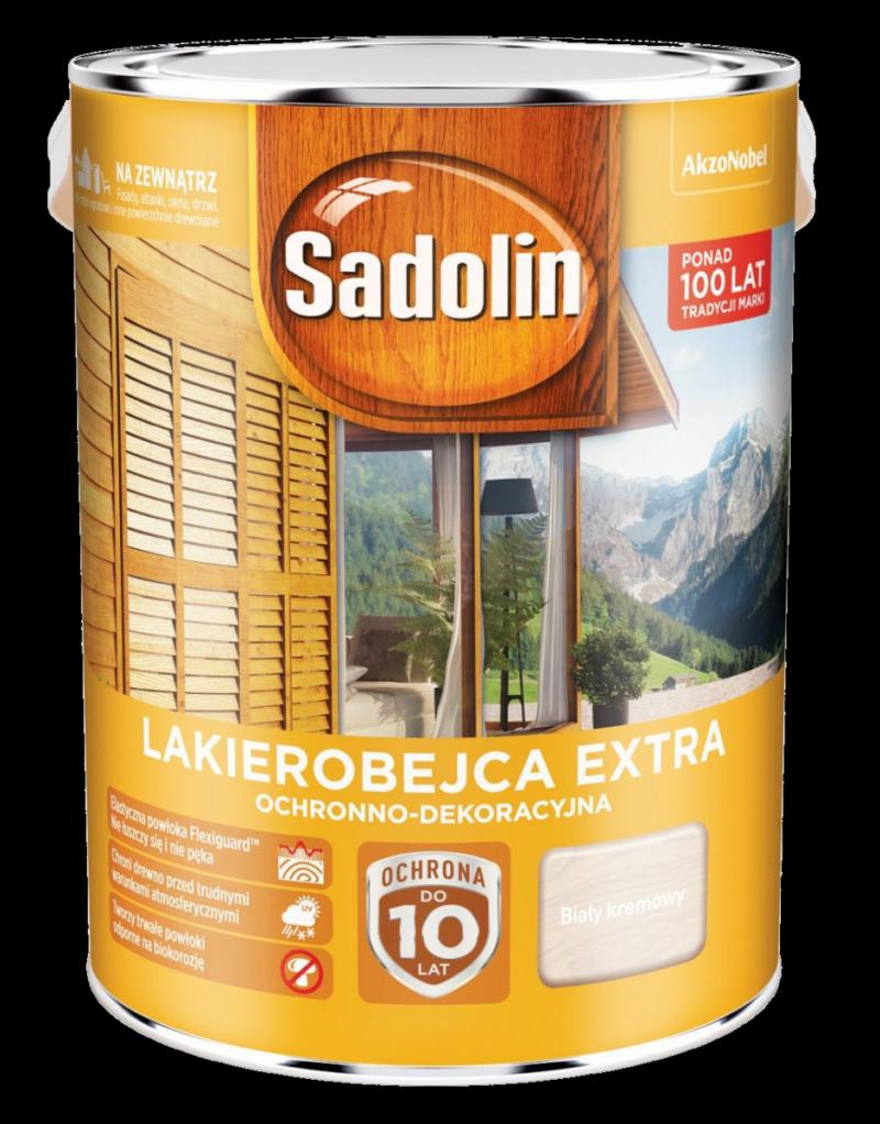 Sadolin Extra lakierobejca 5L BIAŁY KREMOWY 99 drewna