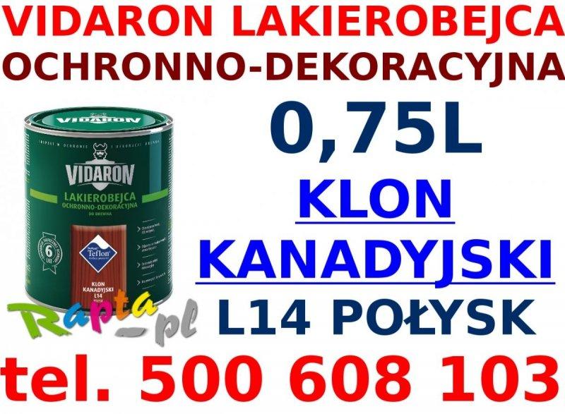 Vidaron Lakierobejca 0,75L L14 Klon Kanadyjski do drewna