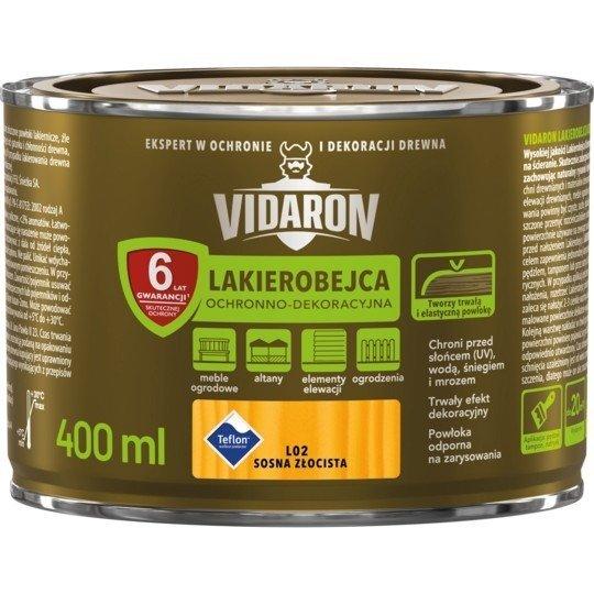 Vidaron Lakierobejca 0,4L L02 Sosna Złocista do drewna