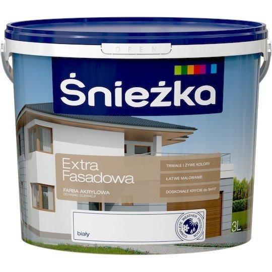 Śnieżka Fasadowa 3L Biała farba elewacyjna Akrylowa Emulsyjna do fasad i elewacji Extra emulsja
