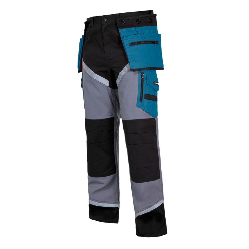 LAHTI PRO Spodnie robocze do pasa ochronne 2XL odblaski