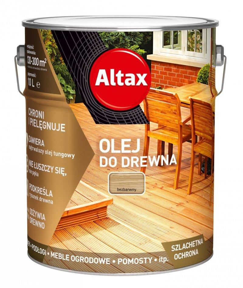 Altax olej do drewna 10L BEZBARWNY UV