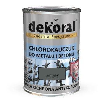 Dekoral Chlorokauczuk 09l Szary średni Ral7010 Farba Emalia