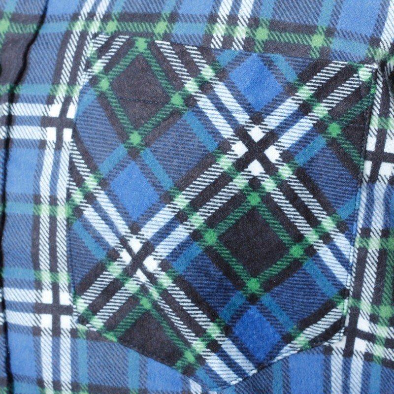 LAHTI PRO Koszula robocza flanelowa XL krata 120g niebieska