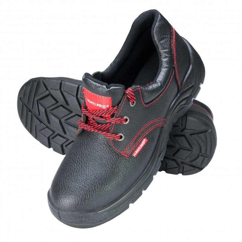 LAHTI PRO Pół-buty ochronne skóra 42 męskie trzewiki robocze czarne