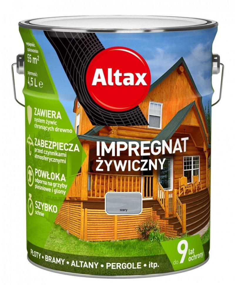 Altax Impregnat 4,5L SZARY Żywiczny Drewna Szybkoschnący