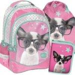 Plecak dla Dziewczynki Szkolny Komplet w Pieski [PTD-181]