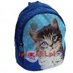 Mały Plecak Plecaczek z Kotkiem Kot Kotek przedszkolny [604607]