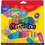 Plastelina 24 Kolory Colorino Szkolna Masa Plastyczna [42642PTR]