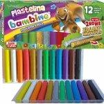 Plastelina Bambino 12 Kolorów Złota Srebrna Okrągła Brokatowa [001710]