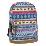 Plecak Vintage dla Dziewczyny Młodzieżowy Szkolny Indiański Wzór