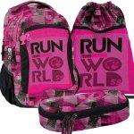 Plecak Młodzieżowy Szkolny Zestaw Run The World [BAA-2808]