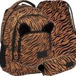 Modny Plecak BackUP Młodzieżowy Szkolny z Uszami Tygrys [PLB3YA18]
