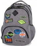 Szary Plecak CP CoolPack  z Naszywkami Młodzieżowy [B24052]