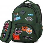 Cp CoolPack Plecak Zielony Młodzieżowy z Naszywkami [B24054]