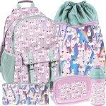 Komplet Paso Plecak z Lamami dla Dziewczynki Szkolny [PP19LA-810]