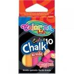 Kreda Kolorowa Bezpyłowa 10 sztuk Colorino 5 Kolorów [33152PTR]