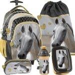 Plecak na Kółkach Koń Szkolny dla Dziewczyny Zestaw [PP19H-997]