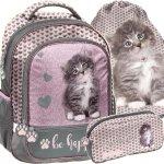Plecak z Kotkami dla Dziewczynki do Szkoły Podstawowej [RLD-260]