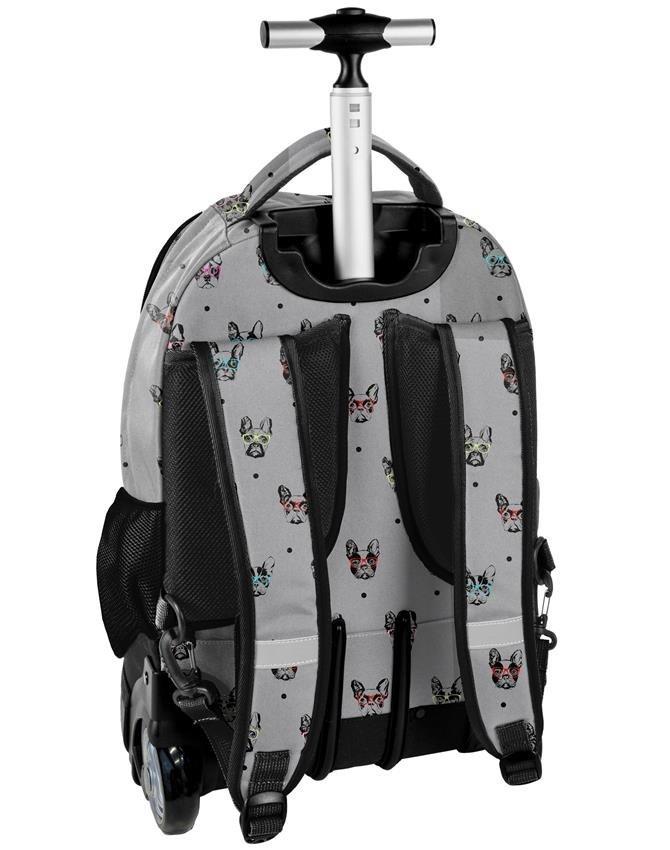 Plecak na Kółkach Pieski Buldog Młodzieżowy Szkolny [PPBB19