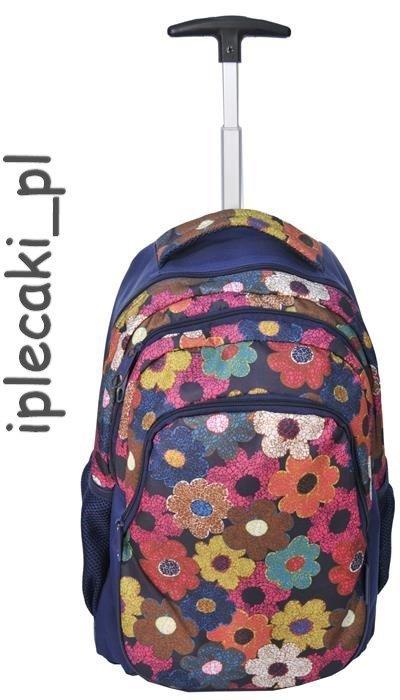 75e18f6386bf5 Plecak na kółkach Szkolny Paso Kwiaty iplecaki.pl